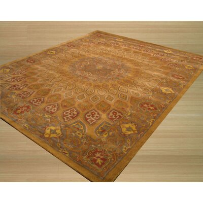 Kernville Hand-Woven Gold Area Rug Rug Size: Rectangle 96 x 136