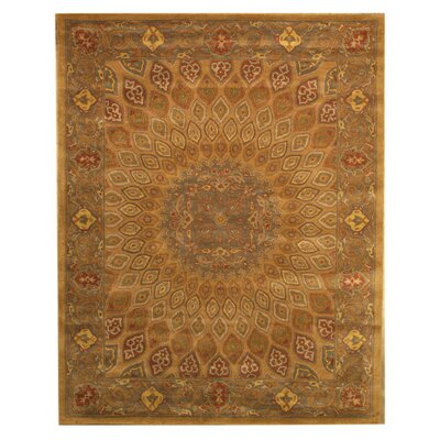 Kernville Hand-Woven Gold Area Rug Rug Size: 89 x 119