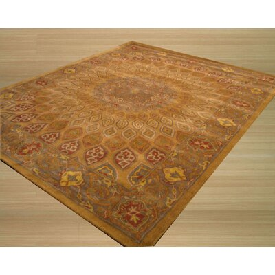 Kernville Hand-Woven Gold Area Rug Rug Size: Rectangle 89 x 119
