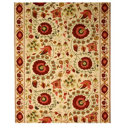 Kerry Hand-Woven Ivory Area Rug Rug Size: Rectangle 5 x 8