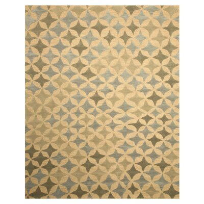 Kimberly Hand-Woven Ivory Area Rug Rug Size: 5 x 8
