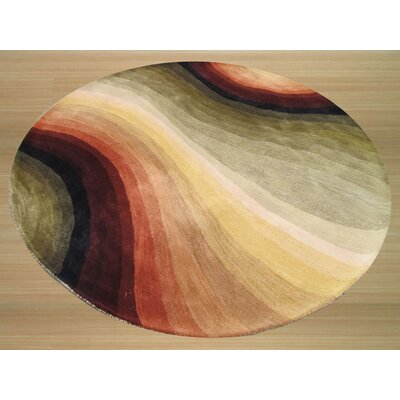Kingsley Hand-Tufted Multi Area Rug Rug Size: Round 4