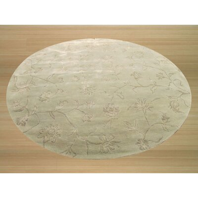 Kingston Hand-Woven Yellow Area Rug Rug Size: Round 76