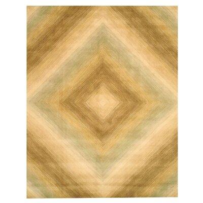 Kinton Hand-Tufted Sand Area Rug Rug Size: 5 x 8