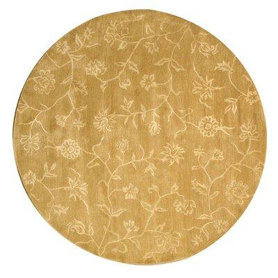 Kinzua Hand-Woven Gold Area Rug Rug Size: Round 76
