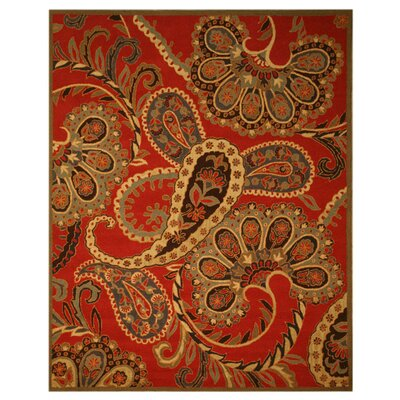 Klondike Hand-Woven Red Area Rug Rug Size: Rectangle 8 x 10