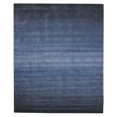 Lacomb Hand-Woven Blue Area Rug Rug Size: Rectangle 79 x 99