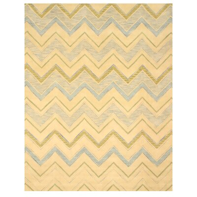 Ladd Hand-Tufted Ivory Area Rug Rug Size: Rectangle 79 x 99