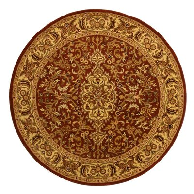 Lancaster Hand-Woven Simba Brown Area Rug Rug Size: Round 6