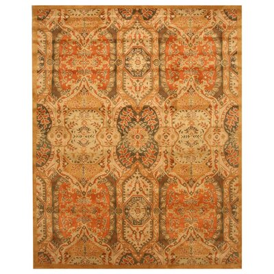 Leaburg Hand-Woven Gold Area Rug Rug Size: Rectangle 96 x 136