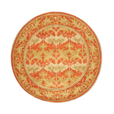 Lehman Hand-Tufted Rust Area Rug Rug Size: Round 6