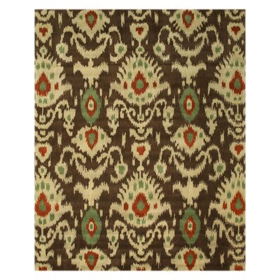 Lena Hand-Tufted Green Area Rug Rug Size: 79 x 99