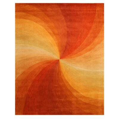 Lenz Red/Orange Area Rug Rug Size: 11'9