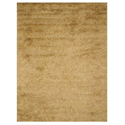 Leona Hand-Woven Tan Area Rug Rug Size: Oval 53 x 73