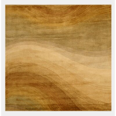Lewisburg Hand-Tufted Brown Area Rug Rug Size: Square 6