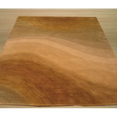 Lewisburg Hand-Tufted Brown Area Rug Rug Size: Rectangle 79 x 99