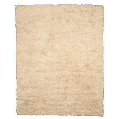 Linslaw Hand-Woven Ivory Area Rug Rug Size: 5 x 8