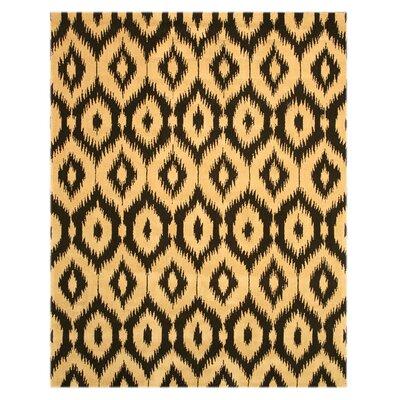 Logsden Black/Gold Area Rug Rug Size: 79 x 99