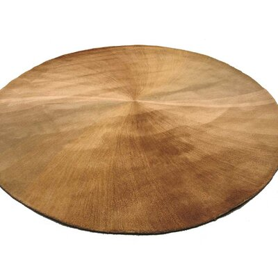 Lookingglass Hand-Tufted Beige Area Rug Rug Size: Round 4