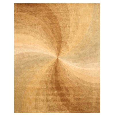Lookingglass Hand-Tufted Beige Area Rug Rug Size: 89 x 119