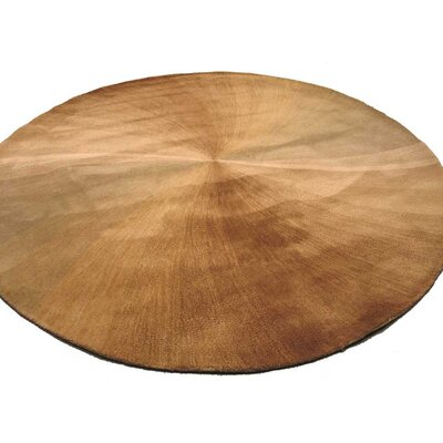 Lookingglass Hand-Tufted Beige Area Rug Rug Size: Round 6