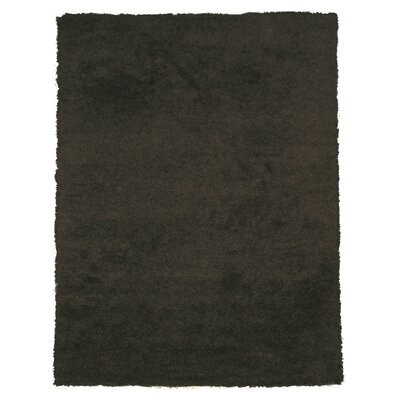Lorane Hand-Woven Black Area Rug Rug Size: 8 x 10