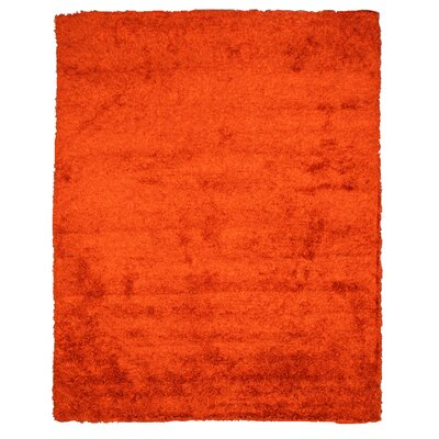 Lorella Hand-Woven Orange Area Rug Rug Size: 8' x 10'