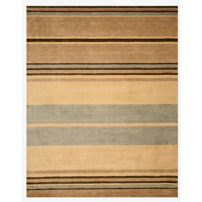 Luper Hand-Tufted Brown Area Rug Rug Size: 79 x 99