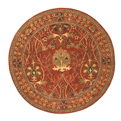 Lafayette Rust Area Rug Rug Size: Round 6
