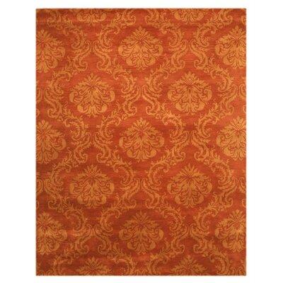 Lebanon Hand-Tufted Rust Area Rug Rug Size: 89 x 119