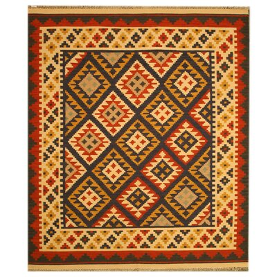 Lostine Hand-Woven Ivory/Red Area Rug Rug Size: 5 x 8