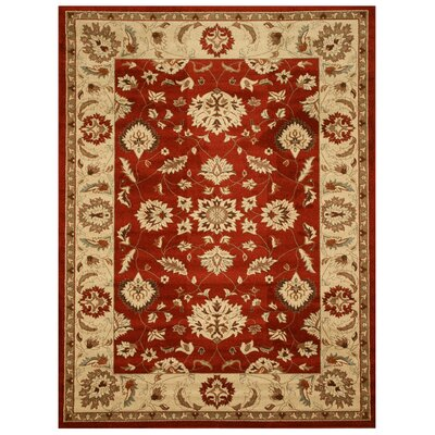 Lowell Red Area Rug Rug Size: 53 x 73