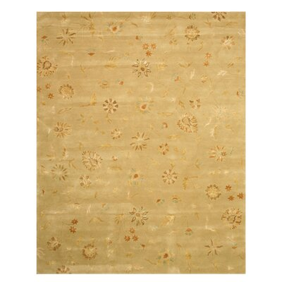 Macksburg Hand-Tufted Gold Area Rug Rug Size: 5 x 8