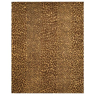Macleay Hand-Tufted Leopard Brown Area Rug Rug Size: 4 x 6