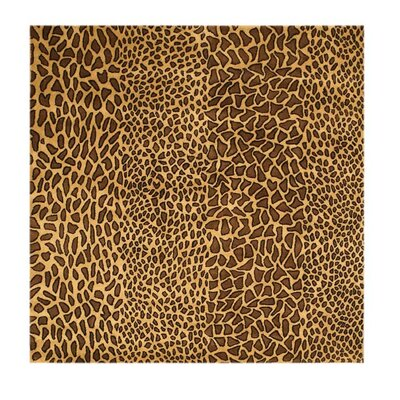 Macleay Hand-Tufted Leopard Brown Area Rug Rug Size: Square 6