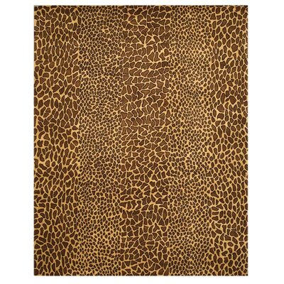 Macleay Hand-Tufted Leopard Brown Area Rug Rug Size: 89 x 119