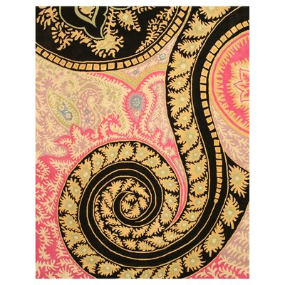 Malone Black/Pink Area Rug Rug Size: Rectangle 79 x 99