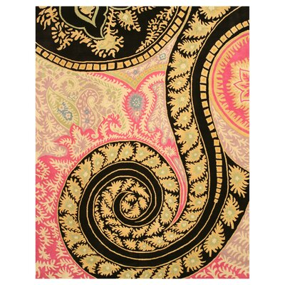 Malone Black/Pink Area Rug Rug Size: Rectangle 89 x 119