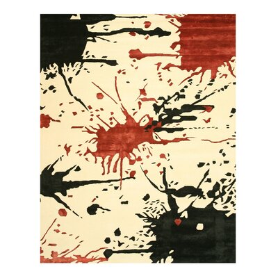 Manhattan Hand-Tufted Ivory Area Rug Rug Size: 79 x 99