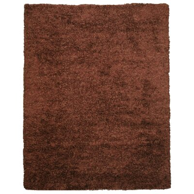 Hand-Woven Brown Area Rug Rug Size: 8 x 10