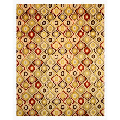 Marion Hand-Woven Ivory Area Rug Rug Size: 89 x 119