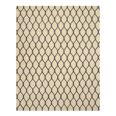 Hand-Tufted Ivory Area Rug Rug Size: 5 x 8