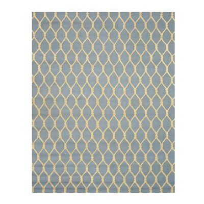 Hand-Tufted Blue Area Rug Rug Size: Rectangle 79 x 99