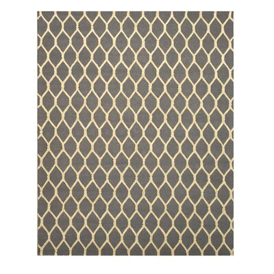 Hand-Tufted Charcoal Area Rug Rug Size: 89 x 119