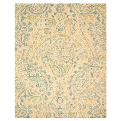 Hand-Tufted Ivory Area Rug1 Rug Size: 79 x 99