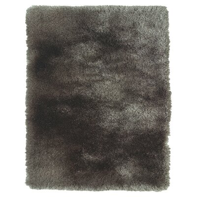 Hand-Tufted Gray Area Rug Rug Size: Rectangle 36 x 56