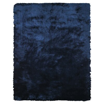 Hand-Tufted Blue Area Rug Rug Size: Rectangle 49 x 76