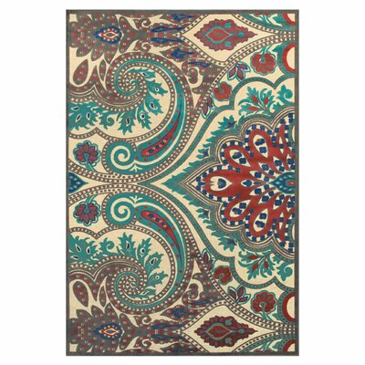 Blue / Brown Area Rug Rug Size: Rectangle 76 x 106