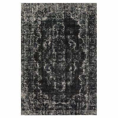 Black / Beige Area Rug Rug Size: Rectangle 5 x 8