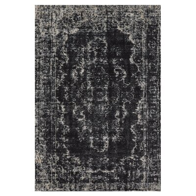Black / Beige Area Rug Rug Size: Rectangle 710 x 11